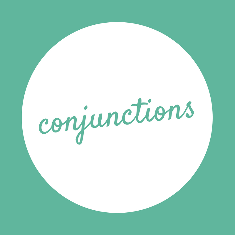 Learning to write – Conjunctions
